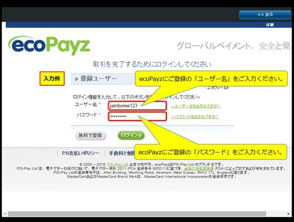 EcoPayz入金方法