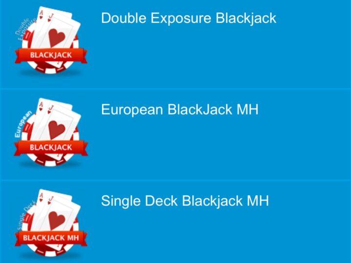 ベラジョンカジノ ブラックジャックの種類