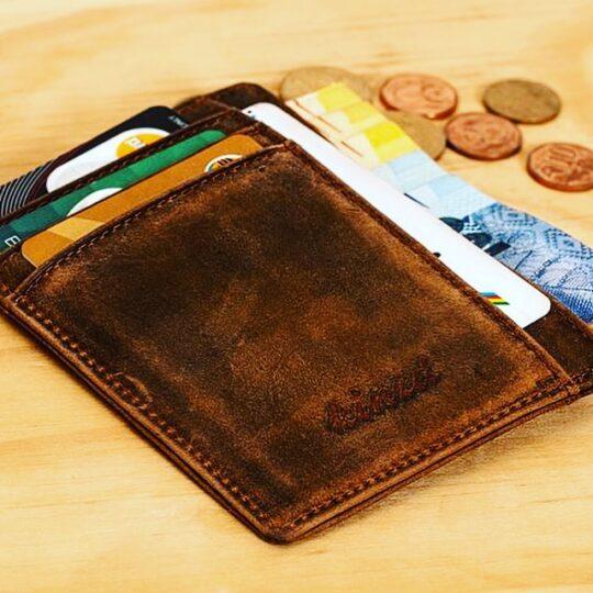 茶色のお財布
