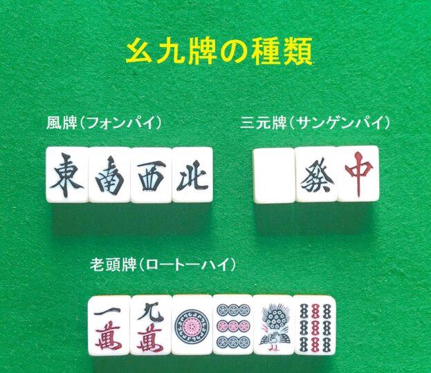 幺九牌の種類